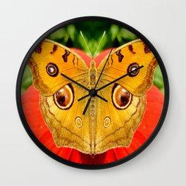 Meadow Argus Butterfly Wall Clock