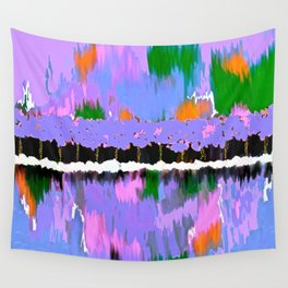 TREES ABSTRACT PINK AND PURPLE OIL PAINTING Wall Tapestry