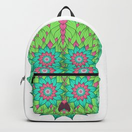 Skull with a floral style Backpack