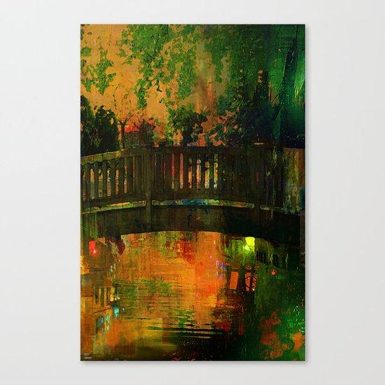 The bridge of Central Park Canvas Print