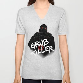 Grub Killer (Red) Unisex V-Neck