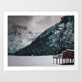 Lake Braies Art Print