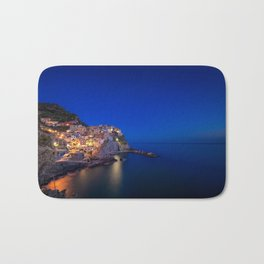 As the night falls over Manarola Bath Mat