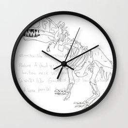 T Rex Wall Clock