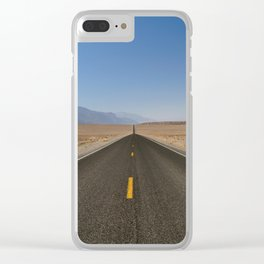 Open Road in Death Valley, California Clear iPhone Case