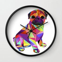Pug Dog Molly Mops Wall Clock
