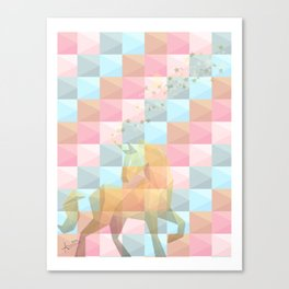 Unico Unicornio : Canvas Print