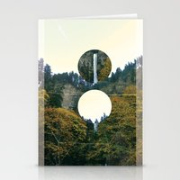 portlandia Stationery Cards featuring Waterfall Sky by Olga Perelman