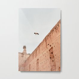 Stork - El Badi Palace | Marrakech | Morocco | pastel colors | art print | photography art Metal Print