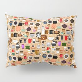 Coffee Mugs, Cups and Makers Pillow Sham