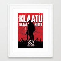 evil dead Framed Art Prints featuring Evil Dead by Constantine Vintage Poster Design