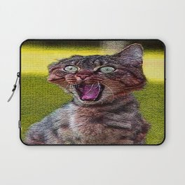 funny cat shocked Laptop Sleeve