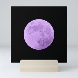 LAVENDER MOON // BLACK SKY Mini Art Print