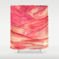 dune Shower Curtains featuring Purple Dune by Lord Egon Will