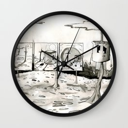 He Roasted for Our Sins Wall Clock