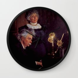 Edvard Grieg (1843 – 1907) accompanying his wife by Peder Severin Kroyer (1851-1909) Wall Clock