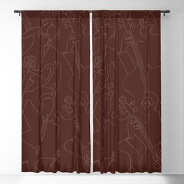Jazz Musicians (Maroon) Blackout Curtain