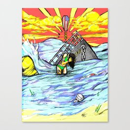 Washing Away Canvas Print