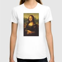 mona lisa T-shirts featuring Mona Lisa by Elegant Chaos Gallery