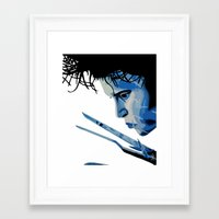 edward scissorhands Framed Art Prints featuring Edward Scissorhands by OnaVonVerdoux