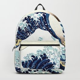 The Great Wave off KanagawA muted Backpack