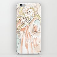 the hobbit iPhone & iPod Skins featuring Thranduil_The Hobbit by JoySlash