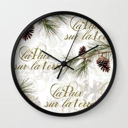 La Paix sur la Terre, Peace on Earth Wall Clock