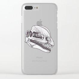 Dilophosaurus skull Clear iPhone Case