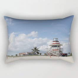 South Beach Miami Lifeguard Station Rectangular Pillow