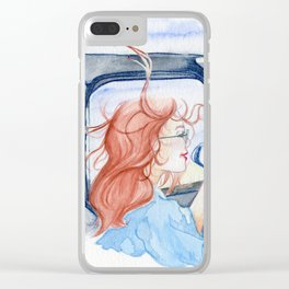 Beach Escape Clear iPhone Case