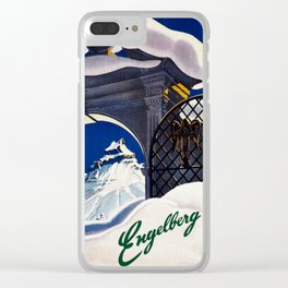 Vintage Engelberg Switzerland Travel Clear iPhone Case