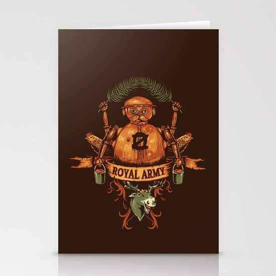 Royal Army Stationery Cards