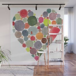 Happy heart Wall Mural