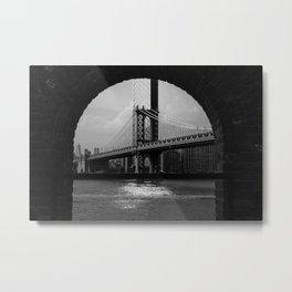 Framed Manhattan Bridge 2019 Metal Print