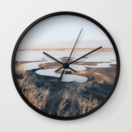 BLUE MOON X / Alviso, California Wall Clock