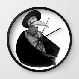 Plague Doctor by Studinano Wall Clock