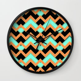 006 Abstract orange, light green and black for man cave decoration Wall Clock