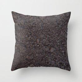 Texture #6 Soil Throw Pillow