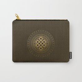 Gold Endless Knot  in Mandala Decorative Shape Carry-All Pouch