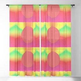 TOKYO LANTERNS Sheer Curtain