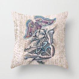 Saturnia butterflies Throw Pillow