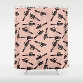 Chainsaw pattern / horror pattern / horror / macabre Shower Curtain