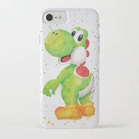 yoshi iPhone & iPod Cases featuring Yoshi by Sabina's Arts