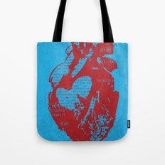 Binary heart Tote Bag