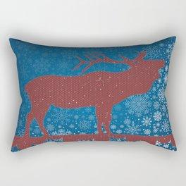 SEASONAL GREETINGS ARTWORK Rectangular Pillow