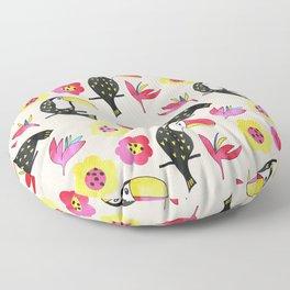 Watercolor toucan Floor Pillow