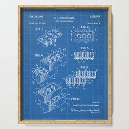 Legos Patent - Legos Brick Art - Blueprint Serving Tray