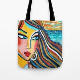 La fille aux cheveux d'horison Tote Bag