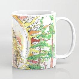 The Sun Tarot Card Bohemian Ocean Goddess Risa Painting Coffee Mug
