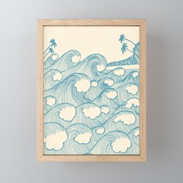 Waves Framed Mini Art Print